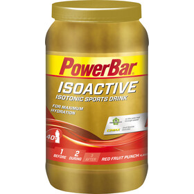 PowerBar Isoactive Isotonic Sports Drink Tub 1320g, Red Fruit Punch